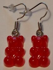 Red Gummy Bear Drop/Dangle Hook, Earrings ( Handmade) New.