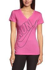 Nike Women's Size Medium V-Neck Pink Training Sports Tee T-Shirt