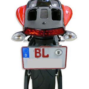 Kennzeichenhalter Motorrad / Quad / Trike  'kleine Höhe'  -NEU: Edelstahl-