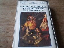 1990 CASSETTE BEETHOVEN -CHAMBER MUSIC FOR WIND INSTRUMENTS-AS NEW