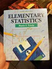 Elementary Statistics by Mario F. Triola (1991, Hardcover)