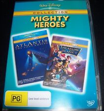 Atlantis / Treasure Planet Disney Mighty Heroes  (Aust Reg 4) 2 DVD – Like New