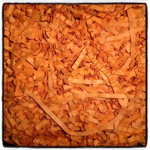 MERIGOLD ORANGE Shredded Luxury Tissue Paper Crinkle Zig Zag Hamper Gift 30gr