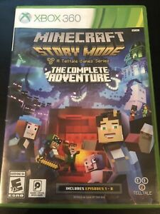 Minecraft: Story Mode- The Complete Adventure - Xbox 360 Game No Manual Tested