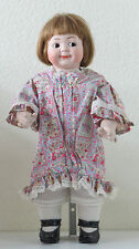 Hertel, Scwab & Co 42 cm   19,3 Inch Poupée Ancienne Reproduction Antique doll