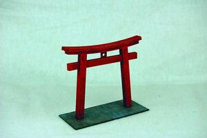 Japan TORII TEMPLE GATE SAMURAI/ JAPANESE 28mm MDF Building B002 Sarissa Prec...
