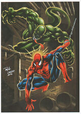 ** SIGNED PRINT** SPIDER & VENON COLOR A4 GLOSSY - BY RON ADRIAN AND ROB LEAN