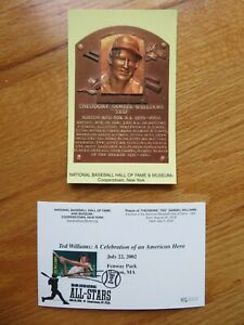 TED WILLIAMS Induction HALL OF FAME Plaque July 20, 2012 CANCELED Stamp RED SOX
