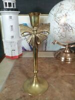 Lovely Vintage Brass Bow Candlestick... rare item...Vgc