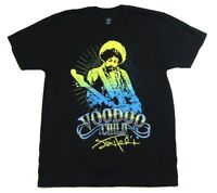 Jimi Hendrix Yellow Blue Glow Voodoo Child Black T Shirt New Official Merch