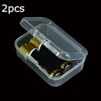 2pcs Mini Translucent Rectangular Plastic Box Storage Case Collection Container