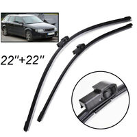 """22""""22"""" Front Windscreen Wiper Blades Kit Fit For Audi A4 B6 8E 8H 2000-2003"""