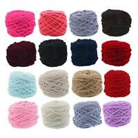 100g Skeins Hand Knitting Wool Crochet Super soft Chunky Chenille Milk Yarn 520