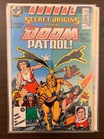 Secret Origins Annual #1 VG 1987 Stock Image Low Grade