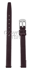 8 mm BROWN CALF LEATHER WATCH BAND WITH SPRNG BARS