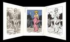 Natacha Triptyque Le Bal de la Rose signé François Walthéry 2 sérigraphies