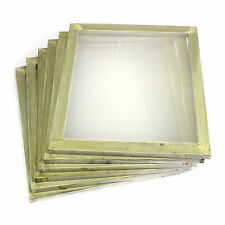 "6 Pack Aluminum Silk Screen Printing Press Screens 110 White Mesh 20"" x 24"""