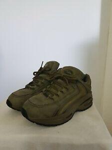 Buffalo Schuhe Sneaker Schnürschuhe Plateau Gr. 40 Khaki Echtleder Old School