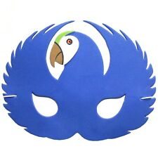 Foam Blue Parrot Mask - Animal Fancy Dress For Children & Grown Ups