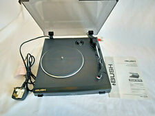 Bush acústica MTT1 Mini Plato Giratorio registro Cubierta 33 45 Rpm construido en vinilo pre-amp