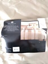Hotel Collection Full/Queen Comforter Cover Jacquard Stripe Pattern Taupe