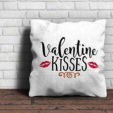 Valentine Kisses Cushion - Love Valentines Gift Home