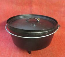 Lodge #12, 8qt. Dutch Oven Superb Condition, w/HD Carrying Case, SHIPS FREE!!
