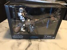 """Star Wars Black Series Speeder Bike & Biker Scout 6"""" Action Figure NEW"""