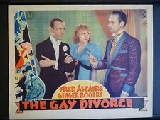 1934THE GAY DIVORCEE - VINTAGE LOBBY CARD - FRED ASTAIRE + GINGER ROGERS MUSICAL