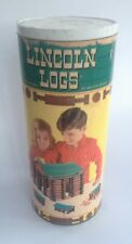 Vintage Lincoln Log Building Blocks Original Packaging
