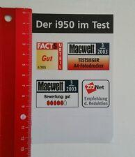 Aufkleber/Sticker: Der i950 im Test - Macwelt - Testsieger (250516127)