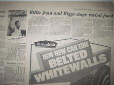 Louisville Courier Journal 9-20-1973. Hank Aaron Hits #711, Billie Jean King!