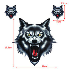 3pcs 3 Tête de loup Autocollant vinyle Moto Voiture Wolf Head Sticker Motorcycle