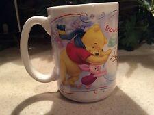 "WINNIE POOH ""SNOW DAY...TIME FOR PLAY"" Disney Store 14 Oz Coffee Mug"