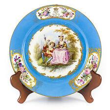 Sevres Porcelain Cabinet Plate Chateau des Tuilleries Sevres Mark Romantic 1844