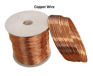 Bare Copper Wire 1/2 Lb./ 8,10,12,14,16,18,20,22,24,26,28,30 Ga (Dead Soft)