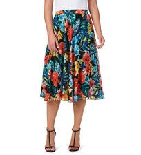 Noni B Liz Jordan Floral printed REGINA SKIRT lined 18 desk 2 dinner retail $129