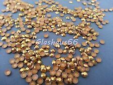 2000 Hotfix Studs,Nieten aus Metall,*hell/light Gold*,SS10 ~ 3mm, Super Qualität