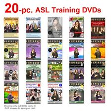20-Piece Complete American Sign Language Training DVD Set NEW for 2017