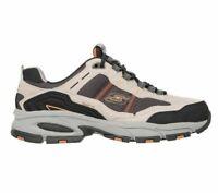 51241 Skechers Mens VIGOR 2.0 TRAIT Leather Athletic Shoes Taupe/Black