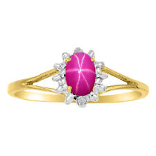 Star Ruby Ring in 14K Yellow Gold or 14K White Gold LR#1-RSY