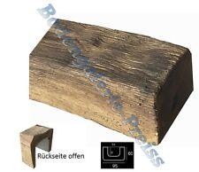 2 Meter Deckenbalken 95x60mm - Dekorbalken - PU-Balken - Holzimitat Eiche dunkel