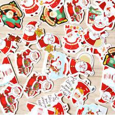 144pcs SANTA CHRISTMAS STICKERS Xmas DIY GIFT CARD SEAL Scrapbooking Labels Tag