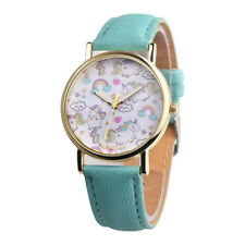 Cute Unicorn Watches Wristwatches Vintage PU Strap Womens Teens Watch UK
