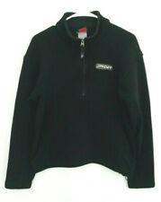 SPYDER Mens LARGE? Sweater Knit Fleece Lined Pullover Quarter Zip Black Spellout