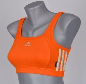 Adidas 3 Str Bra Women's Sports Bra Bustier Top Fitness Shirt Women Orange