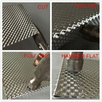 Embossed Aluminum Heat Shield 1000mm x 1000mm Turbo Manifold Exhaust Electrical