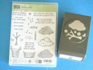 Stampin' Up SPRINKLES OF LIFE Acrylic Stamp Set + TREE BUILDER PUNCH Ice Cream