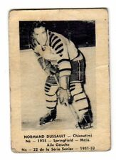 1X NORMAND DUSSAULT 1951 52 Laval Dairy QSHL #22 Chicoutimi