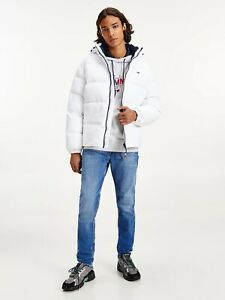 Tommy Jeans Essential Down Jacket In White Size L BNWT £179.99